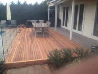 Carpentry deck construction
